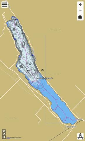 Pohenegamook Lac Fishing Map - i-Boating App