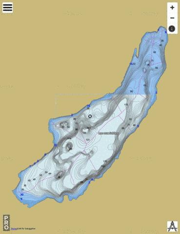 Sables Lac Aux Fishing Map - i-Boating App
