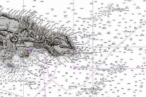Eastern Approaches to Jamaica Marine Chart - Nautical Charts App