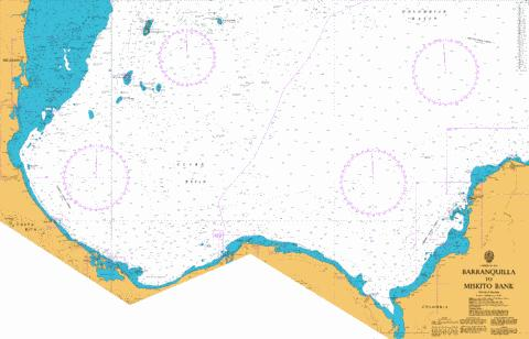 Barranquilla to Miskito Bank Marine Chart - Nautical Charts App