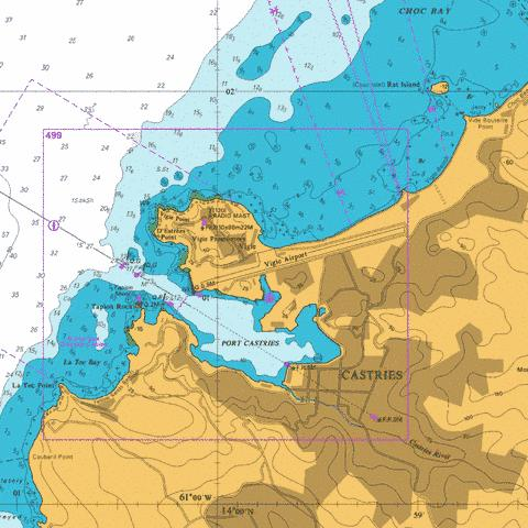 A  Port Castries Marine Chart - Nautical Charts App
