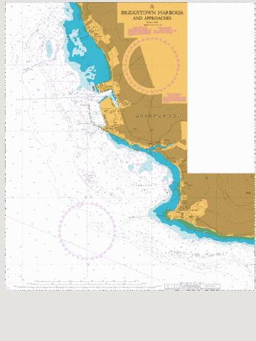 A Bridgetown Harbour and Approaches Marine Chart - Nautical Charts App