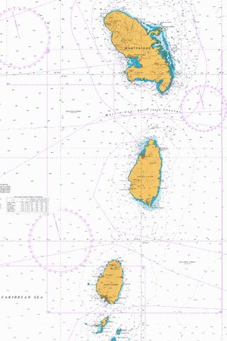 Southern Martinique to Saint Vincent Marine Chart - Nautical Charts App