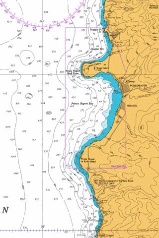 Prince Rupert and Douglas Bays Marine Chart - Nautical Charts App