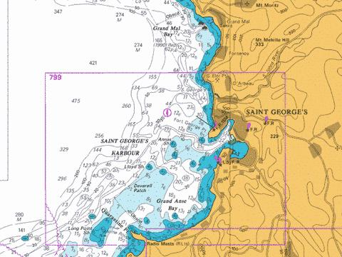 C  Saint George's Harbour and Approaches Marine Chart - Nautical Charts App
