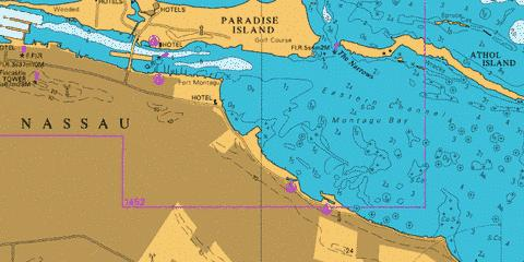 Eastern Approaches to Nassau Marine Chart - Nautical Charts App