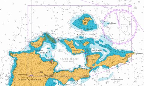 North Sound and Approaches Marine Chart - Nautical Charts App
