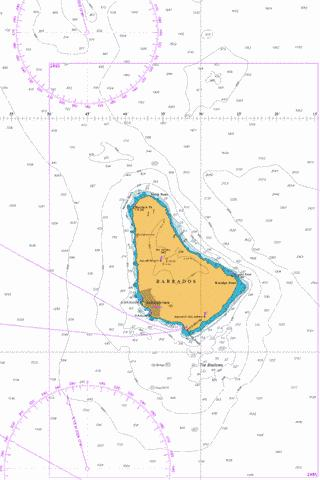 Approaches to Barbados Marine Chart - Nautical Charts App