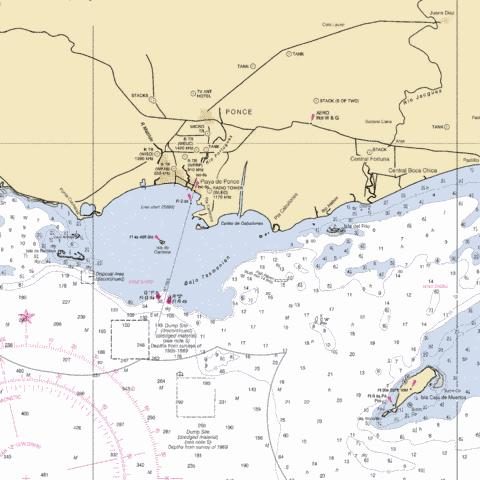BAHIA DE PONCE AND APPROACHES Marine Chart - Nautical Charts App