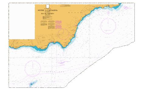 Motril to Cartagena including Isla de Alboran Marine Chart - Nautical Charts App