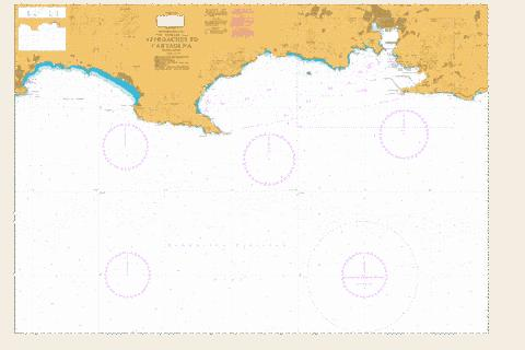 Approaches to Cartagena Marine Chart - Nautical Charts App