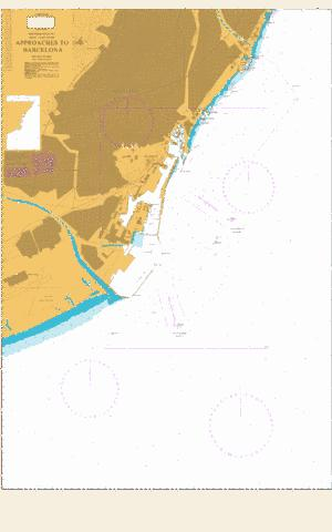 Approaches to Barcelona Marine Chart - Nautical Charts App