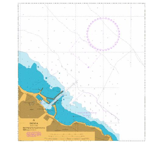 A  Denia Marine Chart - Nautical Charts App