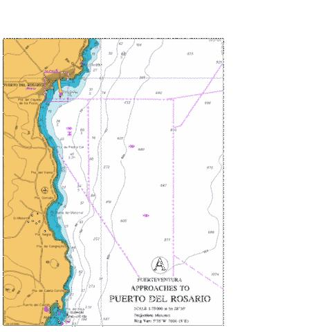 A  Approaches to Puerto del Rosario Marine Chart - Nautical Charts App