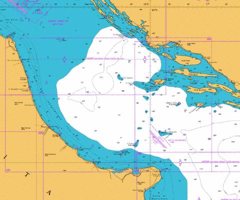 Otok Lastovo to Split and Vieste to Porto Civitanova Marine Chart - Nautical Charts App