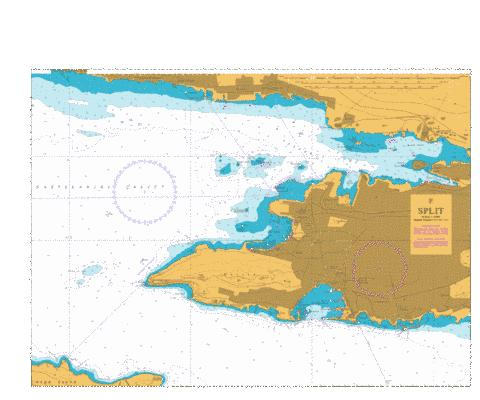 F  Split Marine Chart - Nautical Charts App