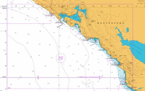 Approaches to Bar and Boka Kotorska Marine Chart - Nautical Charts App