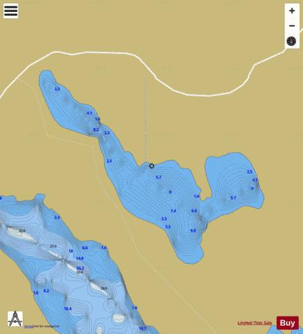 Corglass Lough Fishing Map - i-Boating App