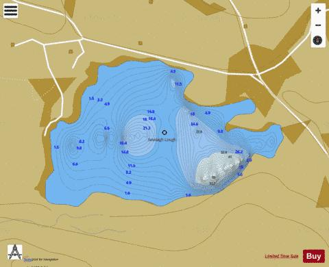 an tSeisigh ( Lough ) Fishing Map - i-Boating App