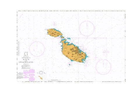 Approaches to Malta and Ghawdex (Gozo) Marine Chart - Nautical Charts App