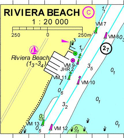 18106C - Riviera Beach Marine Chart - Nautical Charts App