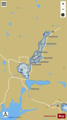 Skagestadvatnet Fishing Map - i-Boating App
