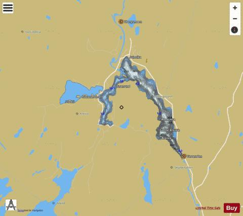 Ubergsvatnet Fishing Map - i-Boating App