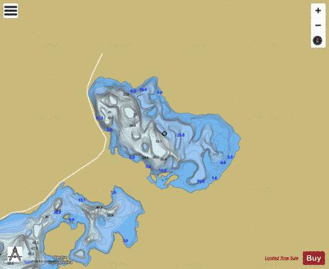 Nedre Sjodalsvatnet Fishing Map - i-Boating App