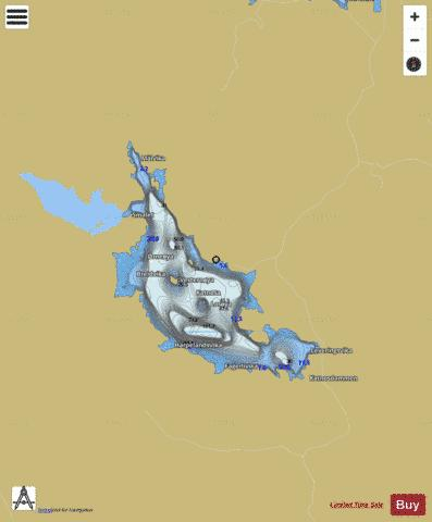 Katnosa Fishing Map - i-Boating App