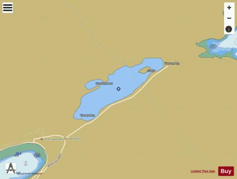 Laksvatnet Fishing Map - i-Boating App