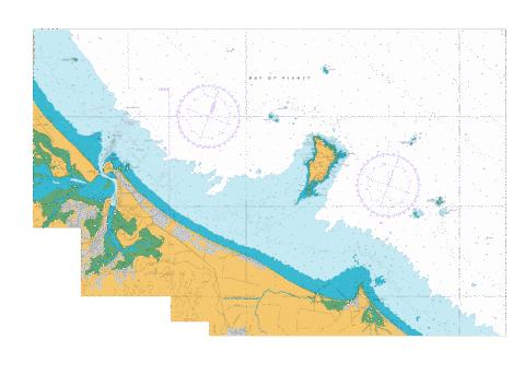 Approaches to Tauranga,NU Marine Chart - Nautical Charts App