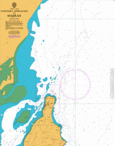 Northern Approaches to Masirah Marine Chart - Nautical Charts App