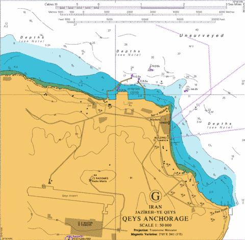 G Qeys Anchorage Marine Chart - Nautical Charts App