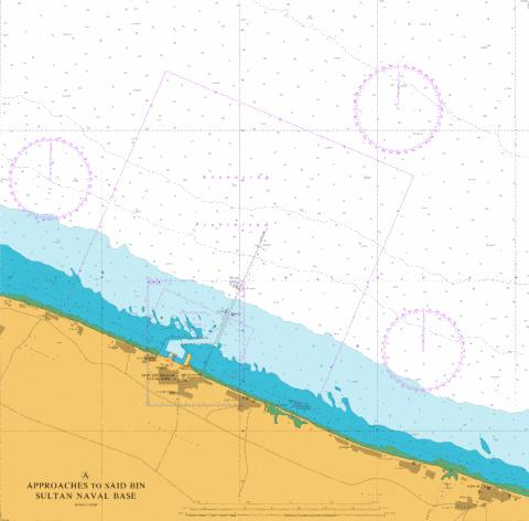 Approaches to Said Bin Sultan Naval Base Marine Chart - Nautical Charts App