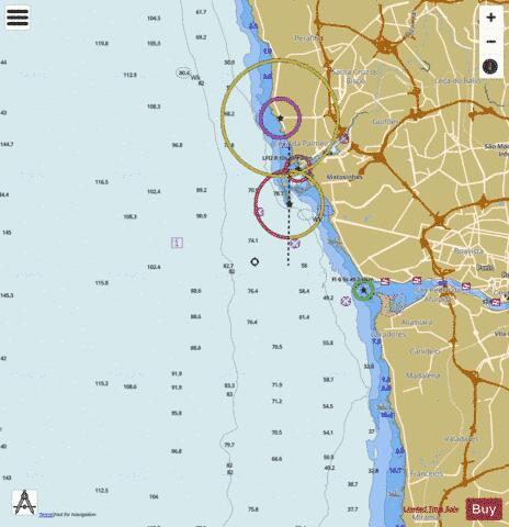 Approaches to Leixoes and Barra do Rio Douro Marine Chart - Nautical Charts App
