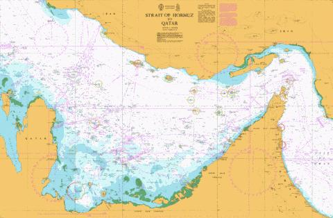 Strait of Hormuz to Qatar Marine Chart - Nautical Charts App