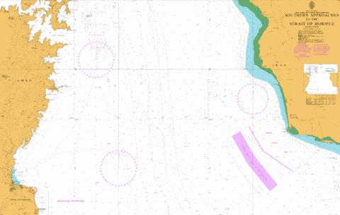 Southern Approaches to the Strait of Hormuz Marine Chart - Nautical Charts App