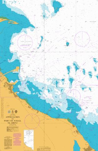 Approaches to Port of Jubail (Al Jubayl) Marine Chart - Nautical Charts App