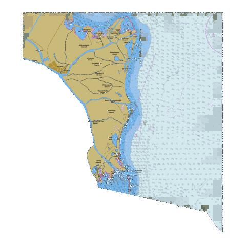 Approaches to Mouthes of Danube Delta  Marine Chart - Nautical Charts App