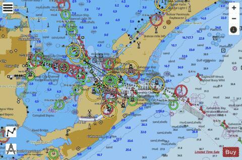 Galveston Bay Entrance Galveston And Texas City Hrbrs Marine Chart