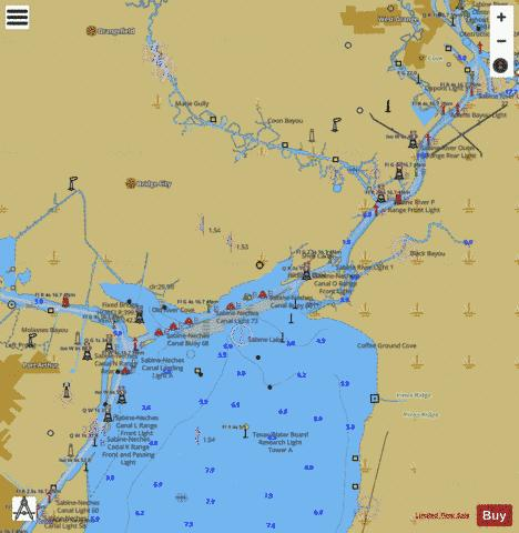 ELLENDER TO GALVESTON - SABINE LAKE Marine Chart - Nautical Charts App