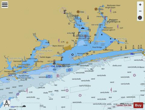 PENSACOLA BAY AND APPROACHES Marine Chart - Nautical Charts App
