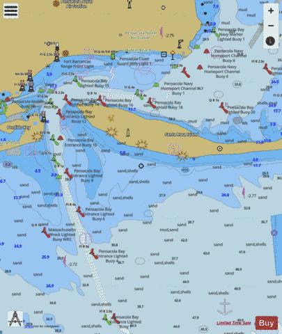 PENSACOLA BAY ENTRANCE Marine Chart - Nautical Charts App
