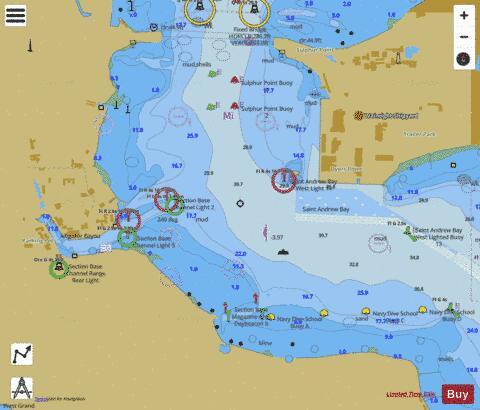 NAVAL COASTAL SYSTEMS CENTER SAINT ANDREW BAY (Marine Chart