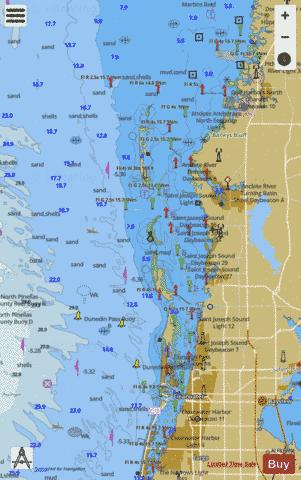 TAMPA BAY - PORT RICHEY CLEARWATER HBR - PORT RICHEY Marine Chart - Nautical Charts App