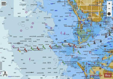 TAMPA BAY ENTRANCE Marine Chart - Nautical Charts App