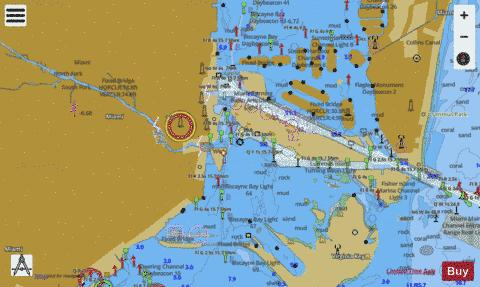 INTRACOASTAL WATERWAY WEST PALM BEACH TO MIAMI Marine Chart - Nautical Charts App