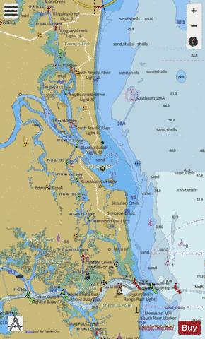 ST SIMONS SOUND TO TOLOMATO RIVER CC-DD Marine Chart - Nautical Charts App