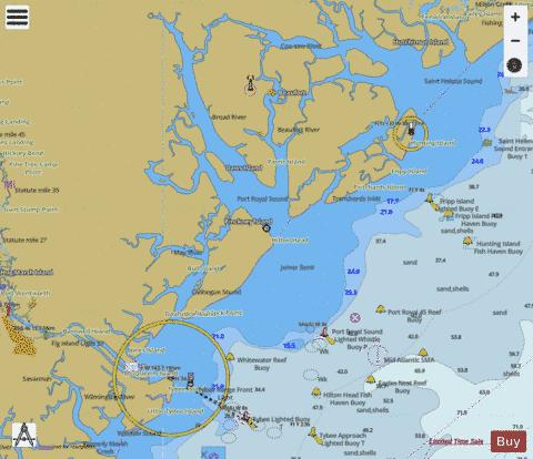 ST HELENA SOUND TO SAVANNAH RIVER Marine Chart - Nautical Charts App