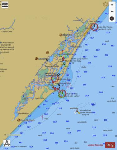 MURRELLS INLET SOUTH CAROLINA Marine Chart - Nautical Charts App